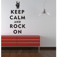 I Love My Wall Keep Calm and Rock On Duvar Sticker -2 ( Sticker hediyeli! )