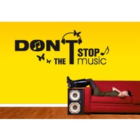 I Love My Wall Dont Stop the Music Duvar Sticker -2 ( Sticker hediyeli! )