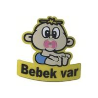 Demircioğlu Emzikli Arabada Bebek Var Özel Kesim Vantuzlu Levha