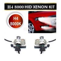 Demircioğlu H4 Xenon Set 8000 Kelvin Uzun Kısa