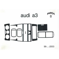 Demircioğlu Audi A3 1999/2003 Arası 8 Parça Piano Black Torpido Kaplama