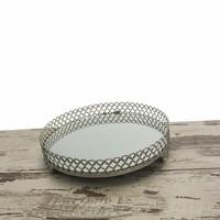Akay Ev Aynalı Tepsi Orta Gümüş 25x25 Cm