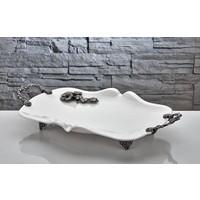 Fidex Home Bone Porselen Servis Tabağı Diktörtgen