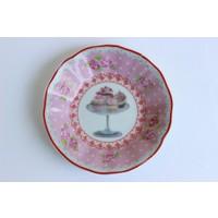 Acar Cupcake Desen Pembe 6lı Çay Tabağı