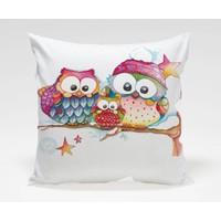 Dekorjinal Baykuş Yastık Kılıfı OWL013