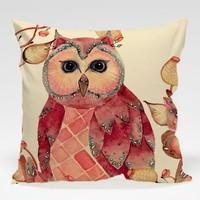 Dekorjinal Baykuş Yastık Kılıfı OWL081