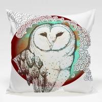 Dekorjinal Baykuş Yastık Kılıfı OWL079