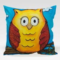 Dekorjinal Baykuş Yastık Kılıfı OWL074