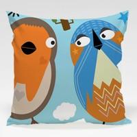 Dekorjinal Baykuş Yastık Kılıfı OWL042