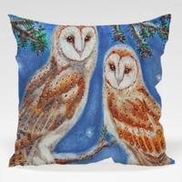 Dekorjinal Baykuş Yastık Kılıfı OWL037