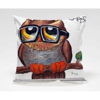 Dekorjinal Baykuş Yastık Kılıfı OWL019