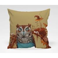 Dekorjinal Baykuş Yastık Kılıfı OWL011