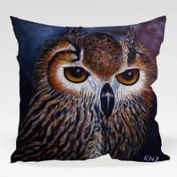 Dekorjinal Baykuş Yastık Kılıfı OWL096