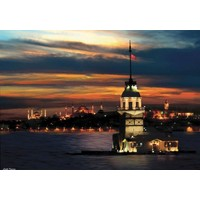 Anatolian 1000 Parça Neon Puzzle Kız Kulesi