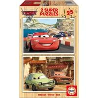 Educa Çocuk Puzzle Ahşap 2 X 25 Arabalar 2