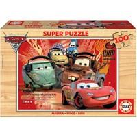 Educa Çocuk Puzzle Ahşap 100 Arabalar 2
