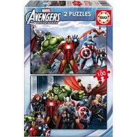 Educa Çocuk Puzzle Karton 2X100 Avengers