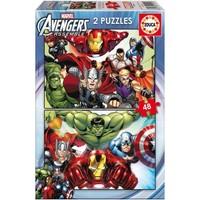 Educa Çocuk Puzzle Karton 2X48 Avengers