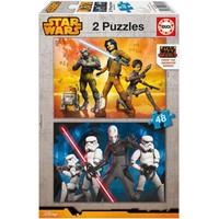 Educa Çocuk Puzzle Karton 2X48 Star Wars Rebels