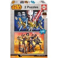 Educa Çocuk Puzzle Karton 2X100 Star Wars Rebels