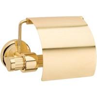 Saray Banyo Pirinç Kapaklı Tuvalet Kağıtlığı Plus Altın