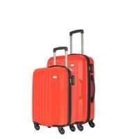 Wexta Kırmızı 2li Valiz Seti Kabin & Orta Boy