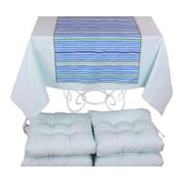 YastıkMinder Koton Bebe Mavi 4 Lü Minder Seti - 150x150 cm