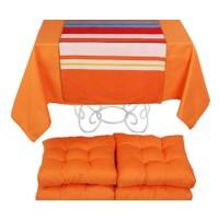 YastıkMinder Koton Oranj ( 1) 4 Lü Minder Seti - 150x150 cm