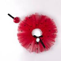 McBaby Tütü Etek+Saç Bandı Tasarım Kırmızı/Puantiyeli
