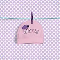McBaby Şapka Penye Kuzu Baskılı Pembe