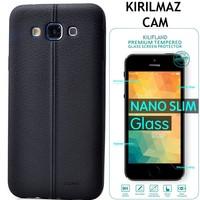 Kılıfland Samsung Galaxy Grand Neo Kılıf Özel Dikişli Silikon Kırılmaz Cam Film