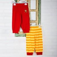 Wonder Kids Carnaval 2li Yazlık Bebek Pantolon Çizgili