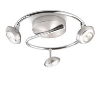 Philips Sepıa Plate/Spiral Led Nickel 3X4W Selv