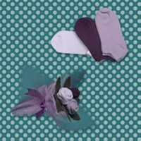 McBaby Anne Çorap Çiçek Buketi Fuşya/Beyaz/Pembe