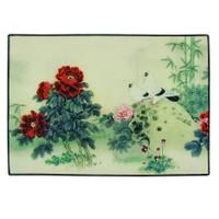 Gravel Çiçek ve Kuş Desenli Amerikan Servisi