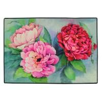 Gravel Floral Amerikan Servisi - Kırmızı Pembe