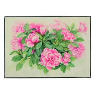Gravel Floral Amerikan Servisi - Pembe Yeşil