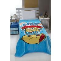 Mink Spongebob 09 Lisanslı Tek Kişilik Battaniye