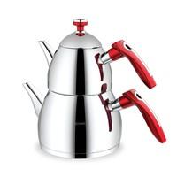 Schafer Rubin Küçük Boy Çaydanlık Kırmızı Paslanmaz Çelik