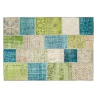 MarkaEv Patchwork Halı Yeşil Mavi - 160x230 cm