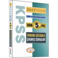 Yediiklim Yayınları Kpss 2017 Genel Kültür Genel Yetenek Son 5 Yıl Tamamı Çözümlü Çıkmış Sorular