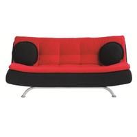 Futon Riva Kanepe - Siyah Kırmızı