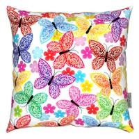 Gravel Dekoratif Baskılı Yastık - Renkli Kelebekler