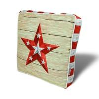 Gravel Çok Amaçlı Yastık Minder - Krem Kırmızı