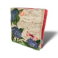 Gravel Çiçek ve Kelebek Desenli Çok Amaçlı Yastık - Minder