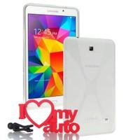 CoverZone Samsung Galaxy Tab 4 T230 Kılıf Silikon Xline Şeffaf + 3D Araç Kokusu