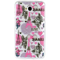 CoverZone LG L70 Kılıf Silikon Resimli Model Paris In Love