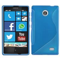 CoverZone Nokia X Kılıf Silikon S-Line Mavi