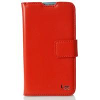 CoverZone LG L70 Kılıf Lüks Cüzdan Kırmızı Kırmızı