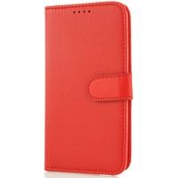 CoverZone LG L70 Kılıf Cüzdan Kapaklı Kırmızı